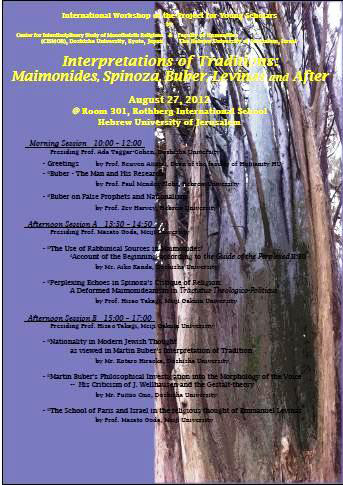 Interpretations of Traditions: Maimonides, Spinoza, Buber, Levinas and After