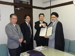 テヘラン大学神学部と学術交流協定を締結1